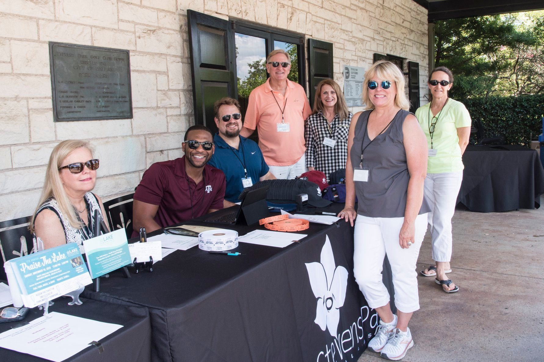 White Rock Lake Foundation Annual Golf Tournament: Board Members at the event registration table